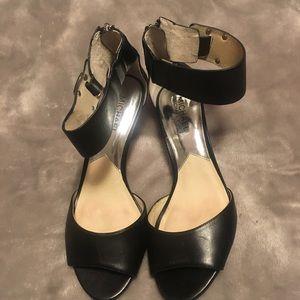 Michael Kors Shoes - Gently used Michael Kors Open Toe Kitten Heels